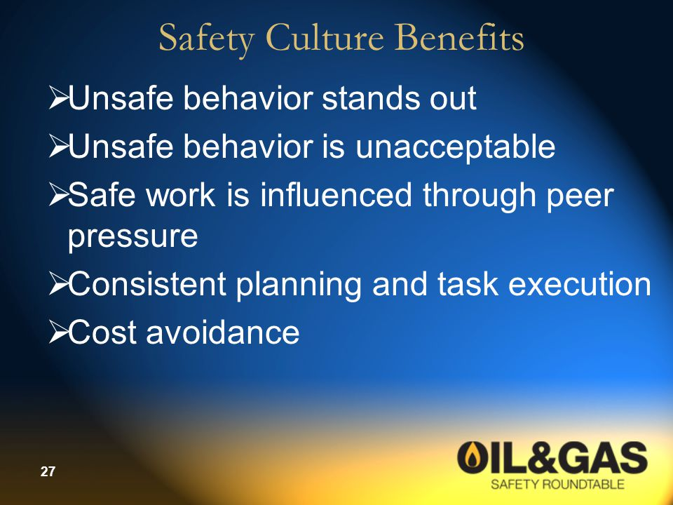 Safety Culture Benefits