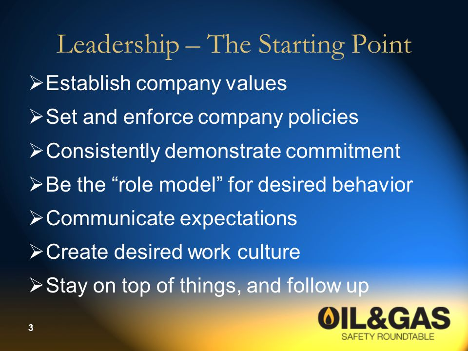 Leadership – The Starting Point