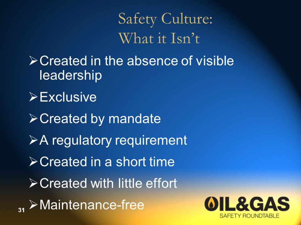 Safety Culture: What it Isn't