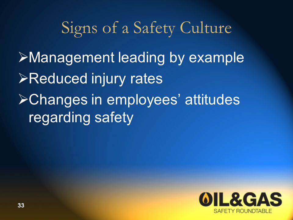 Signs of a Safety Culture