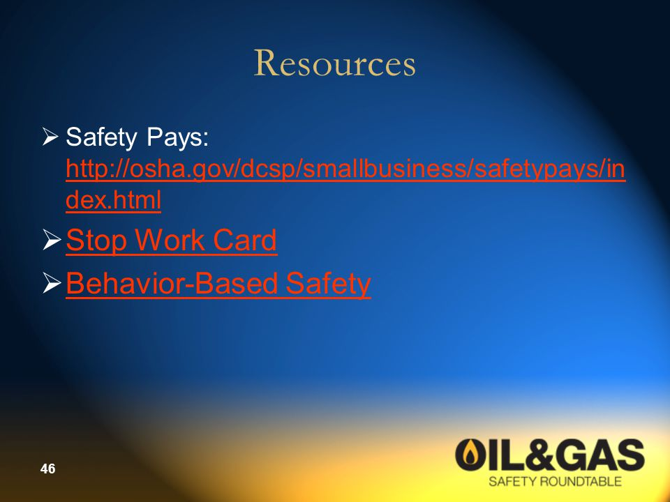 Resources Stop Work Card Behavior-Based Safety