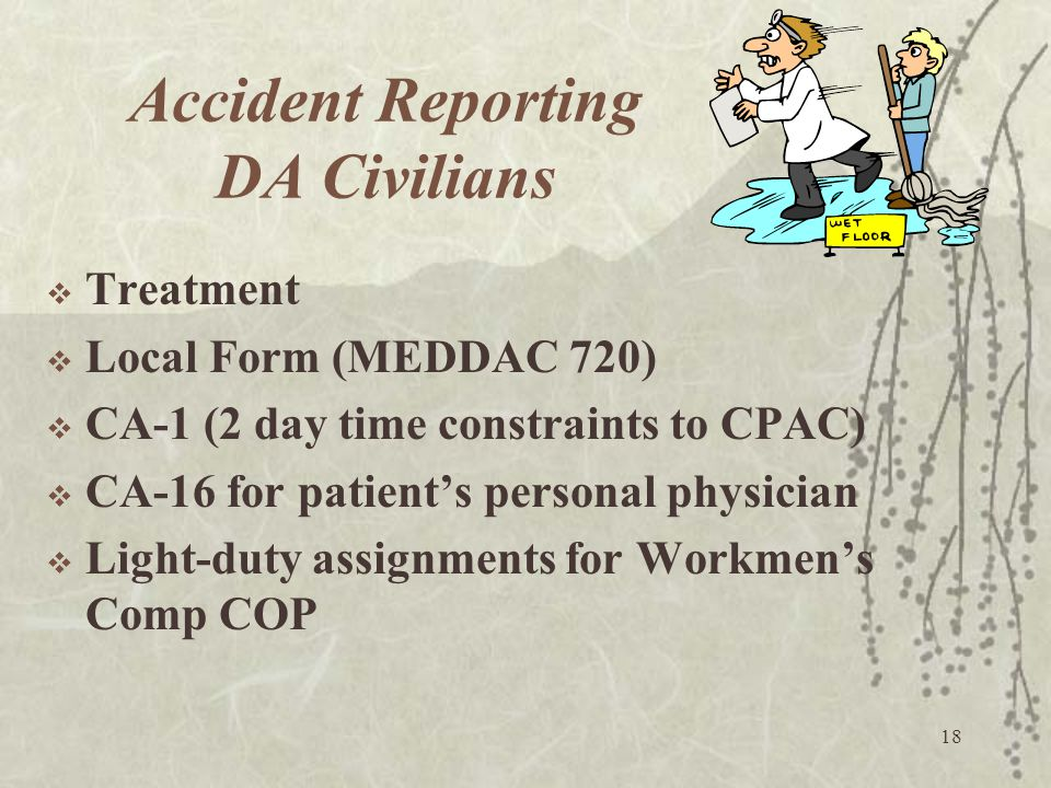 Accident Reporting DA Civilians