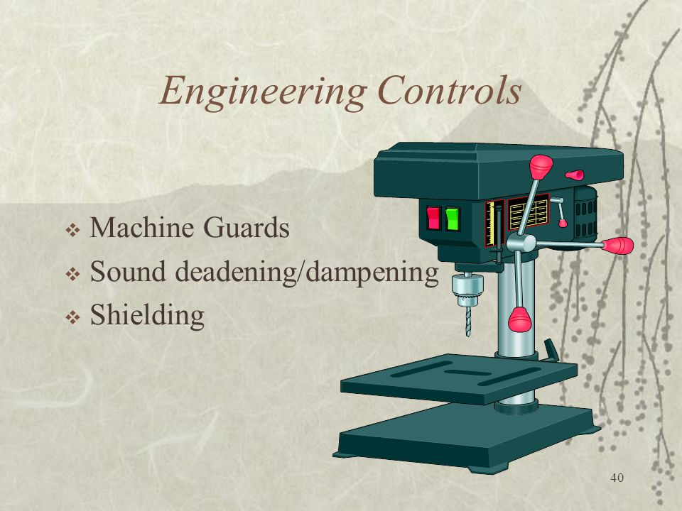 Engineering Controls Machine Guards Sound deadening/dampening