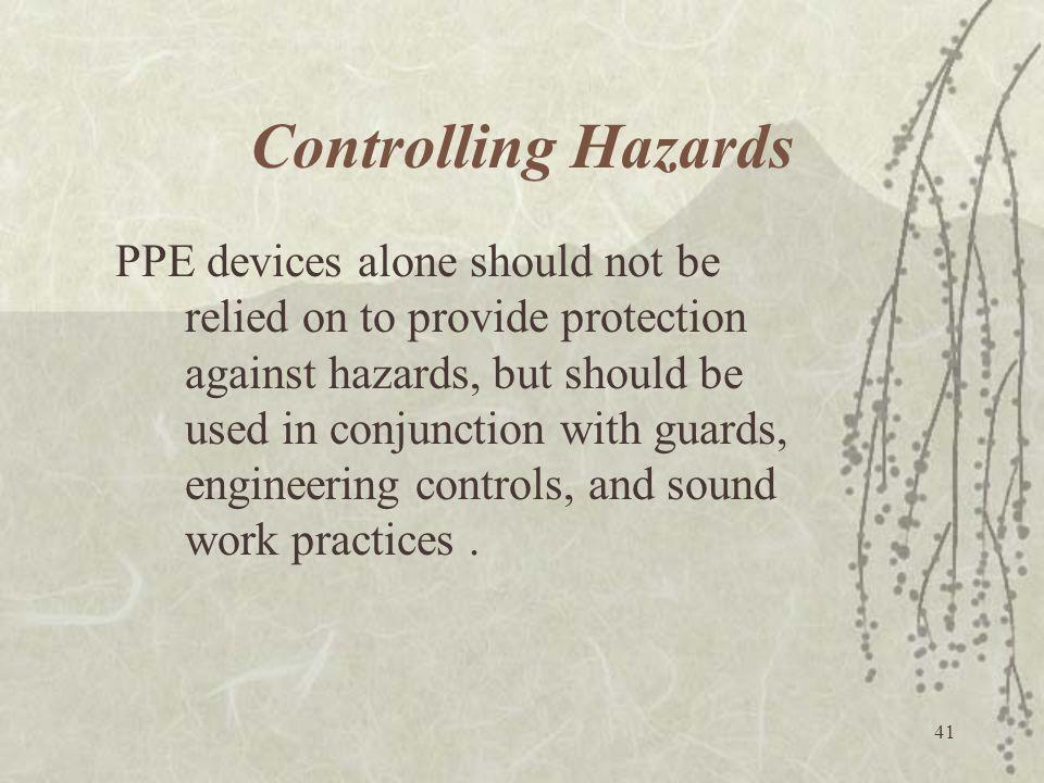 Controlling Hazards