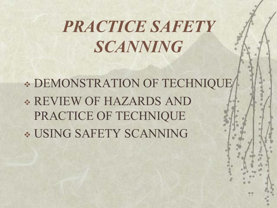 PRACTICE SAFETY SCANNING