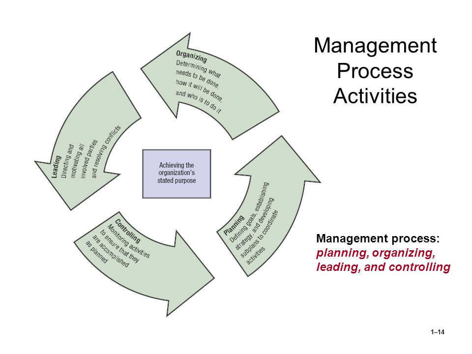 Management Process Activities