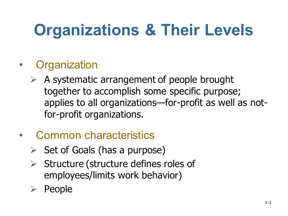 Organizations & Their Levels