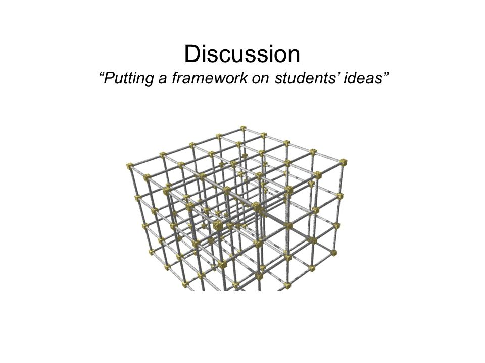 Discussion Putting a framework on students' ideas