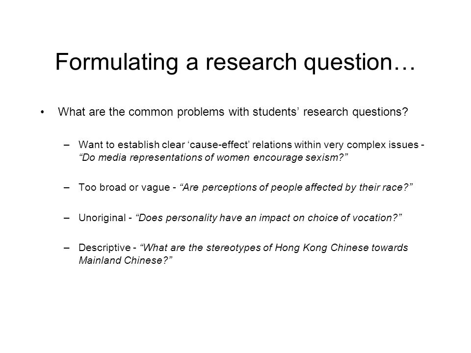Formulating a research question…