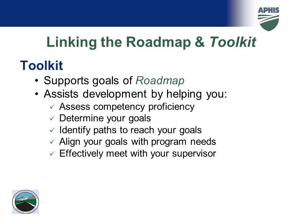 Linking the Roadmap & Toolkit