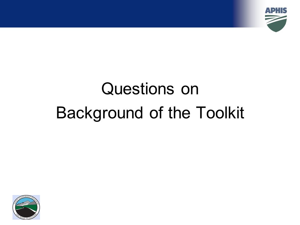 Background of the Toolkit