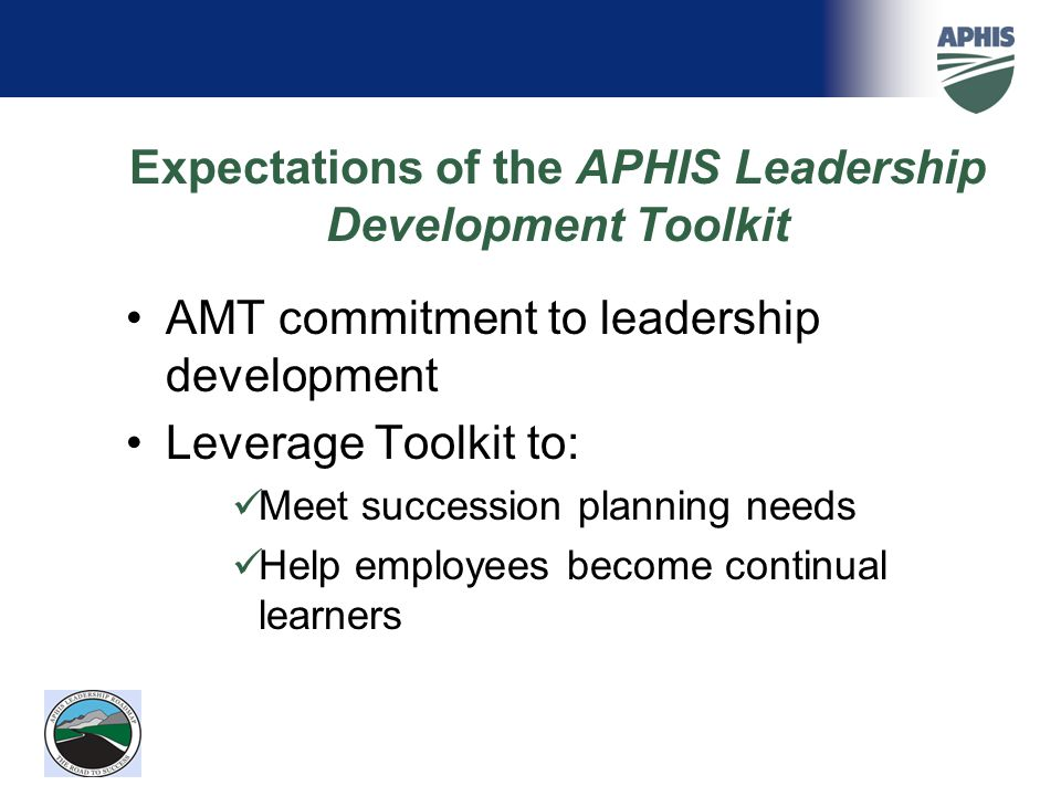 Expectations of the APHIS Leadership Development Toolkit
