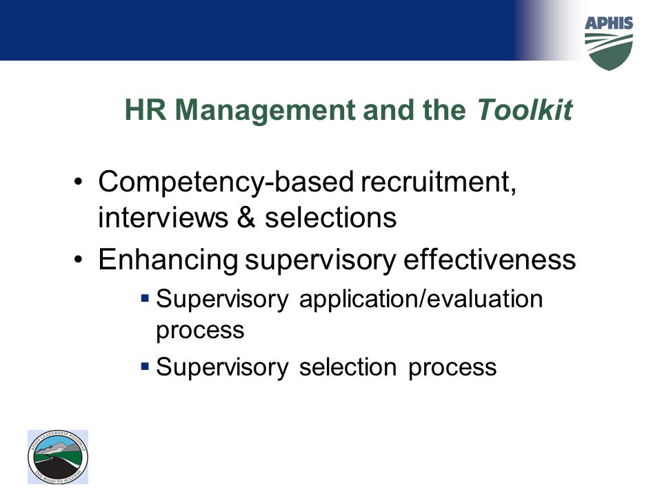 HR Management and the Toolkit