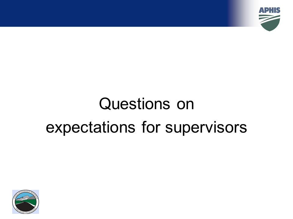 expectations for supervisors