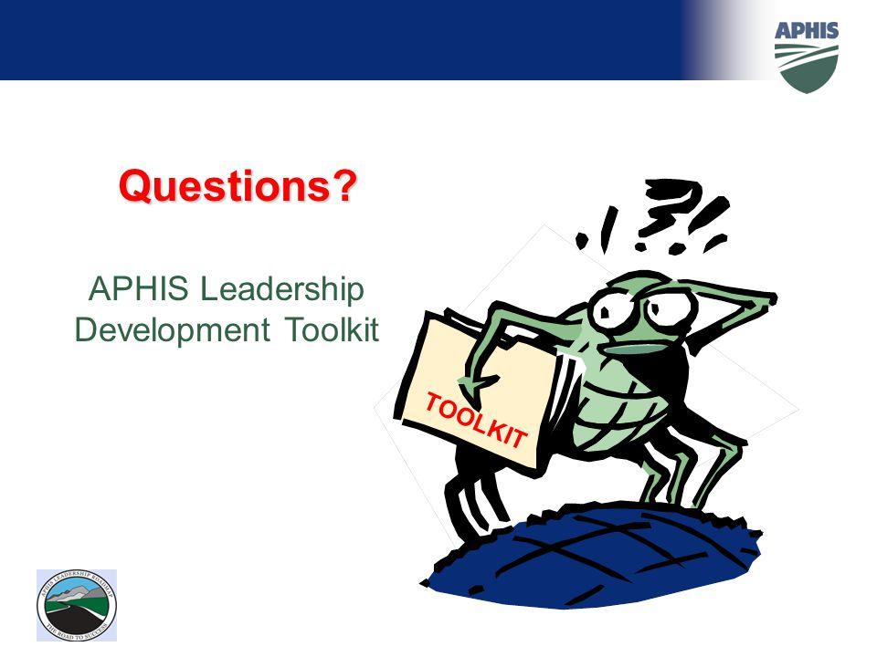 APHIS Leadership Development Toolkit