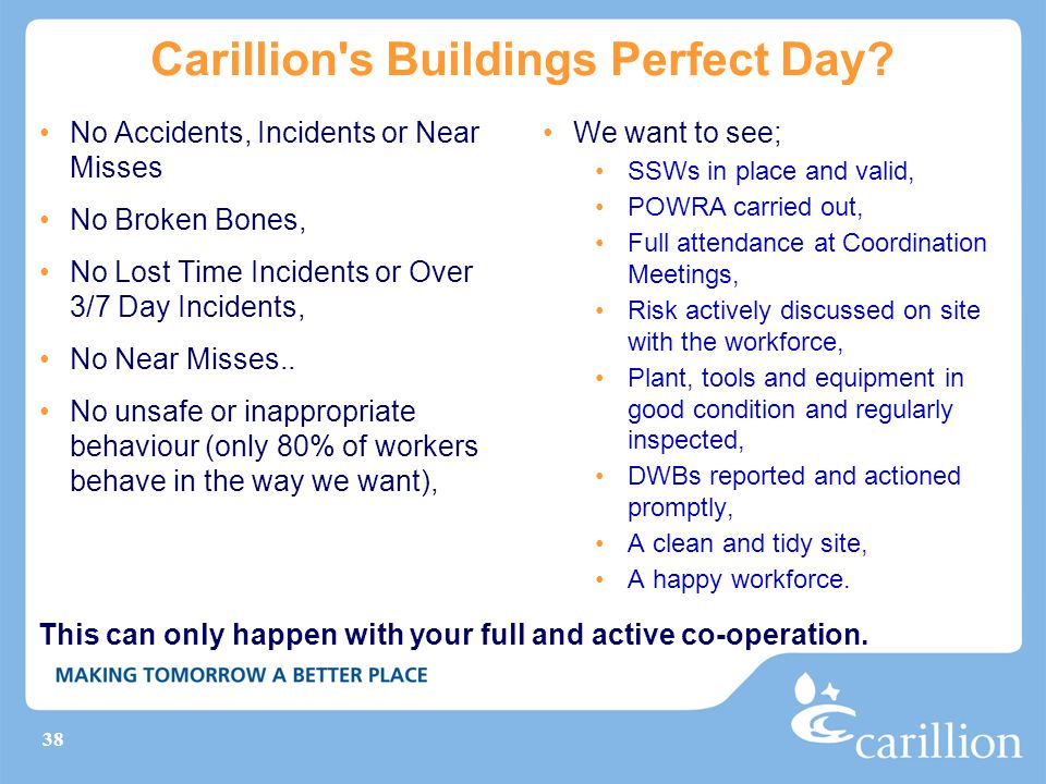 Carillion s Buildings Perfect Day