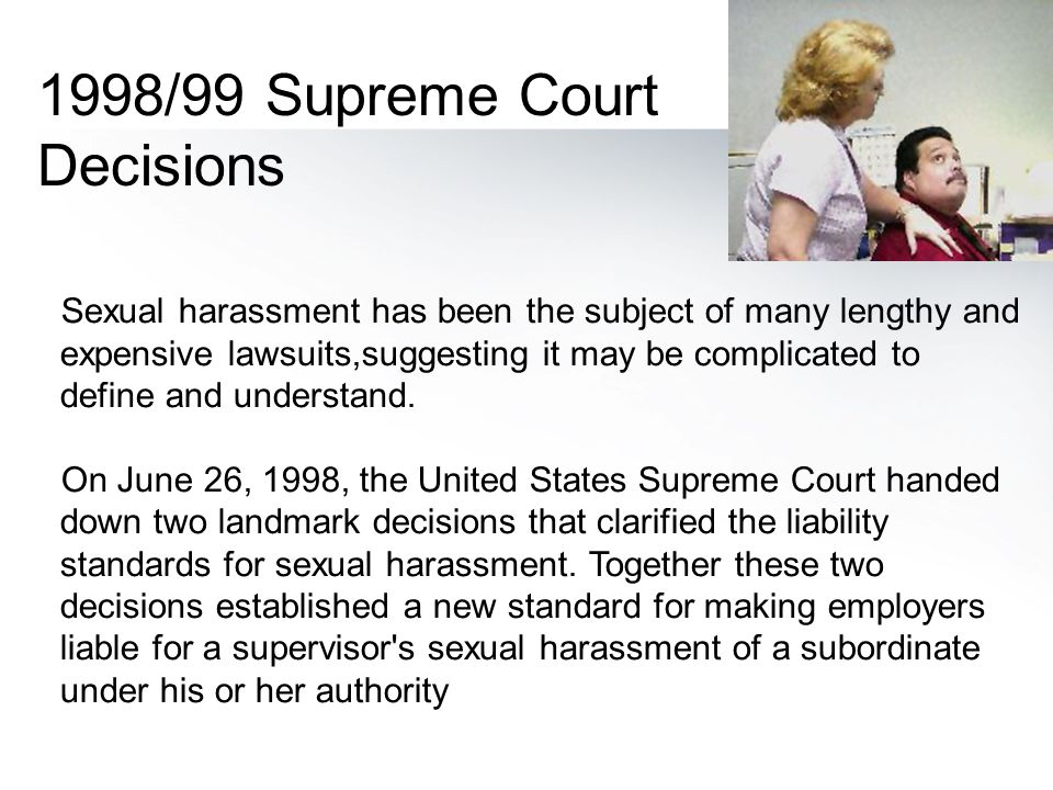1998/99 Supreme Court Decisions