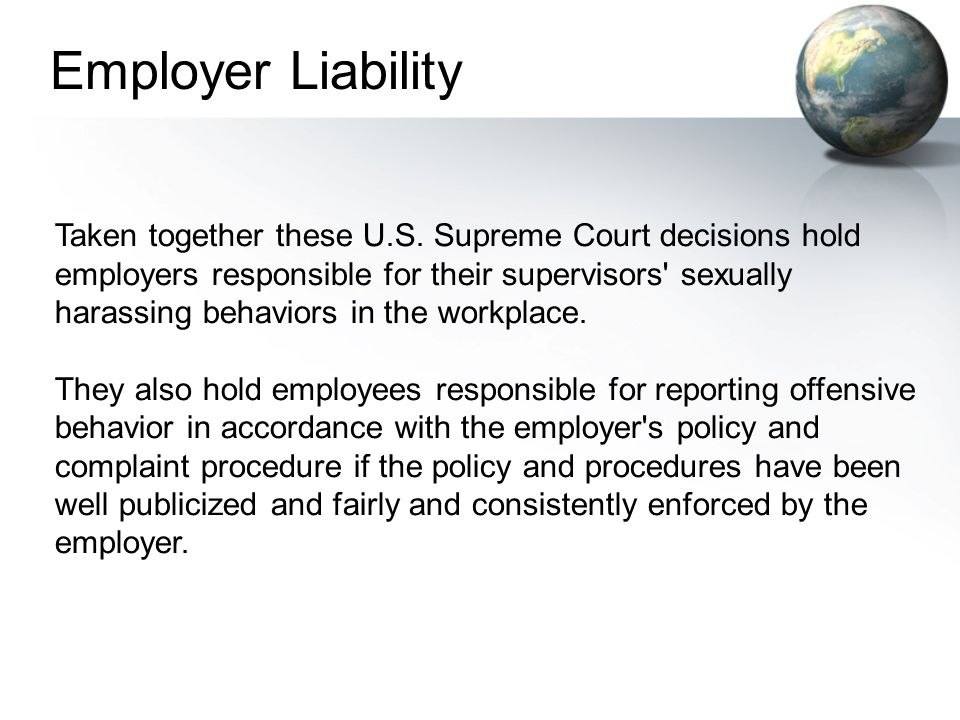Employer Liability