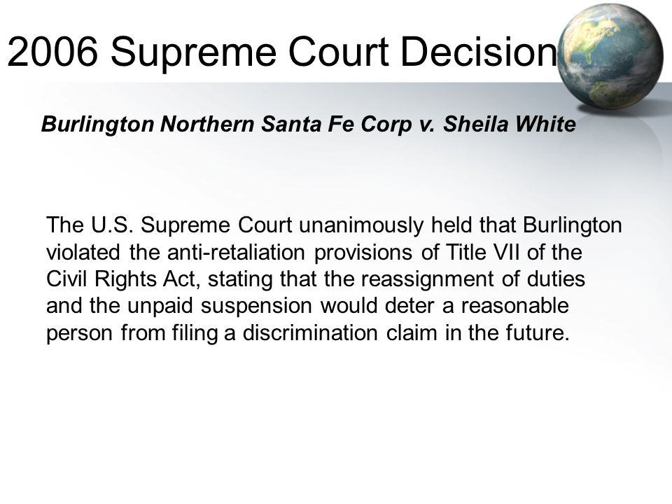 2006 Supreme Court Decision