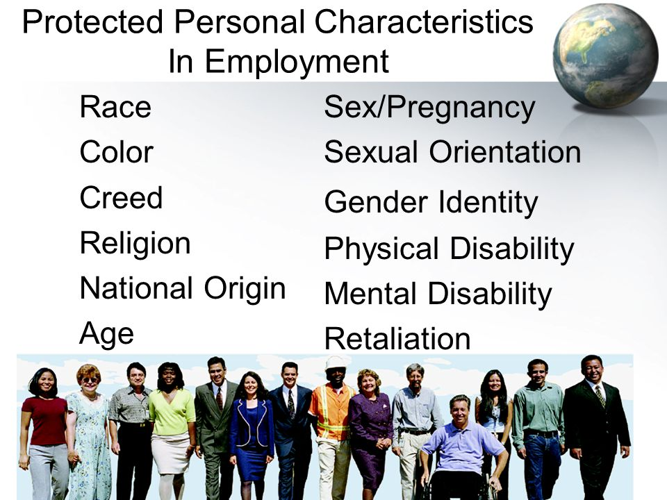 Protected Personal Characteristics In Employment