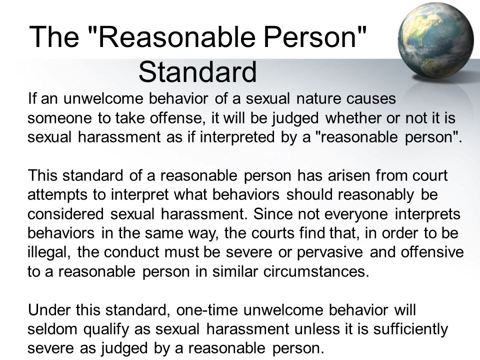 The Reasonable Person Standard