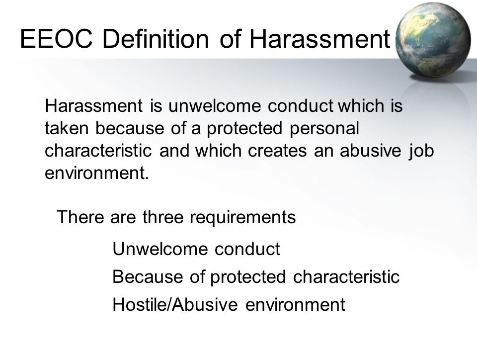EEOC Definition of Harassment