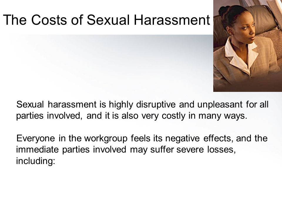 The Costs of Sexual Harassment