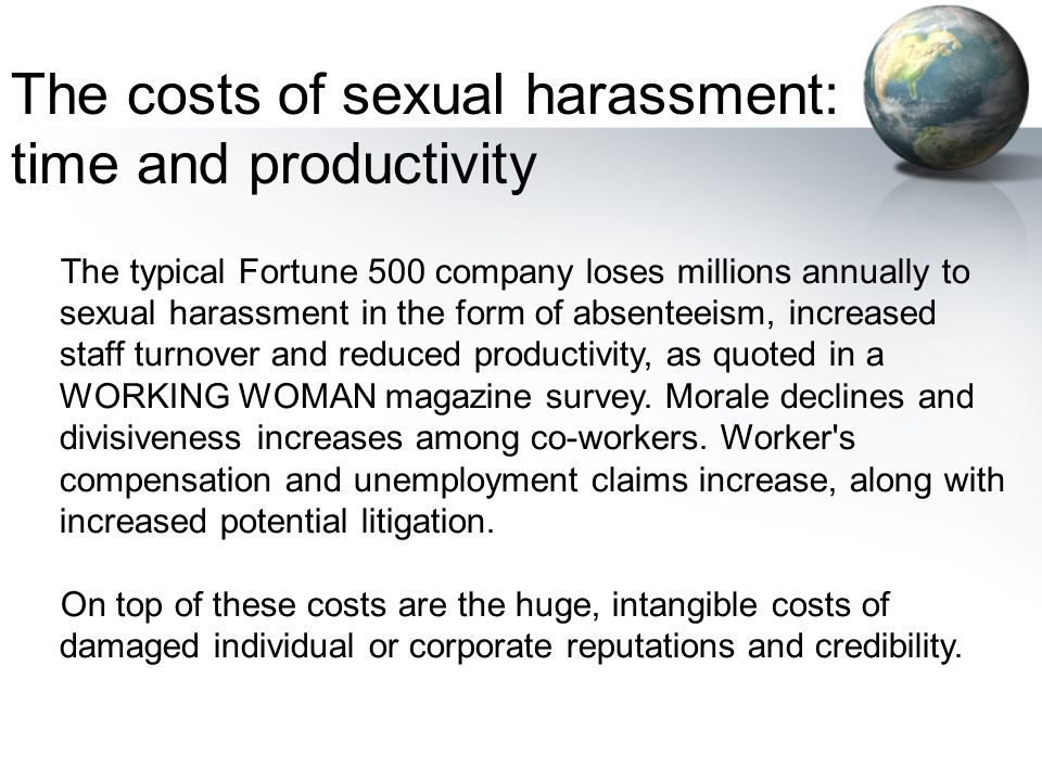 The costs of sexual harassment: time and productivity