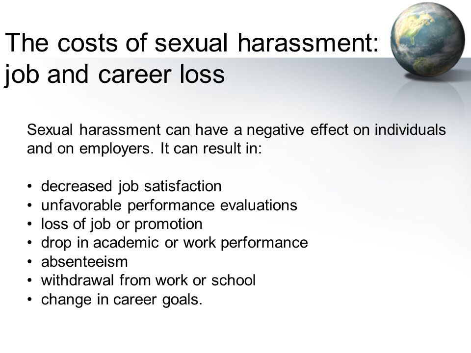 The costs of sexual harassment: job and career loss
