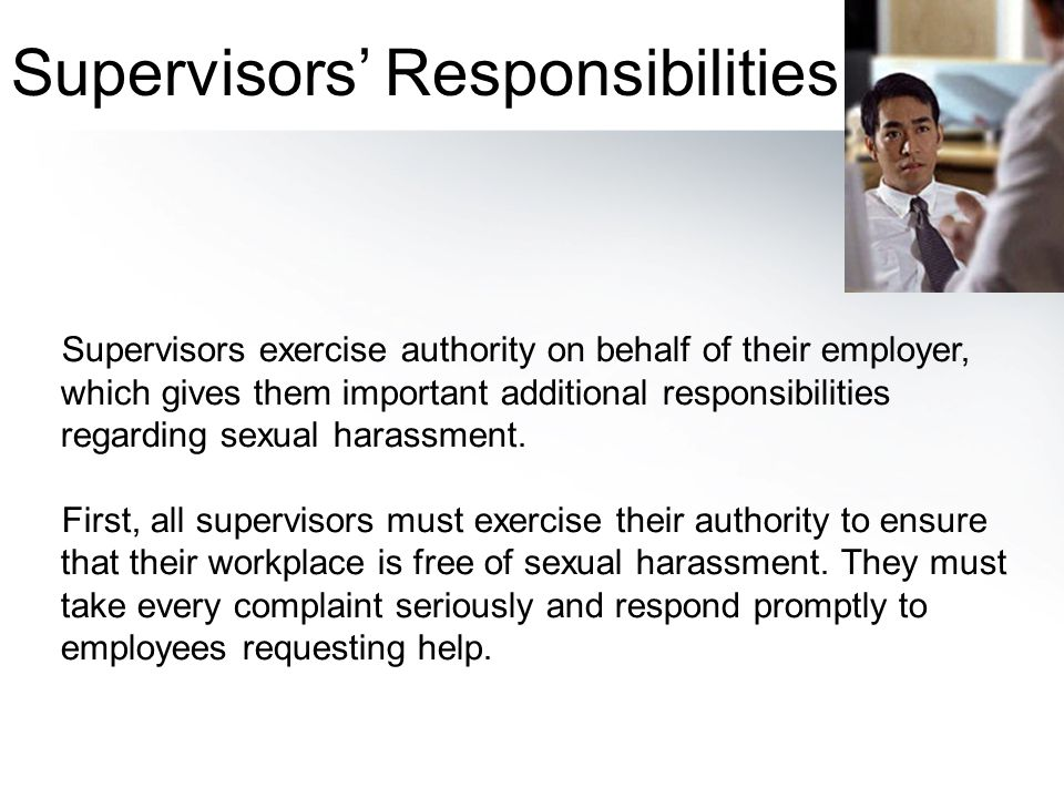 Supervisors' Responsibilities