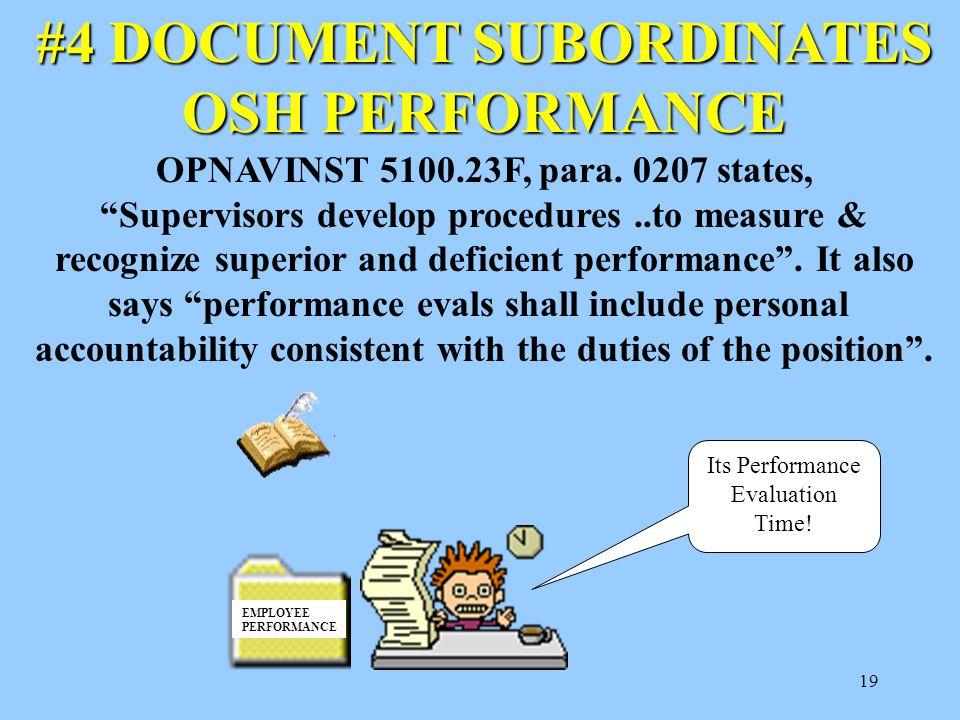 #4 DOCUMENT SUBORDINATES OSH PERFORMANCE