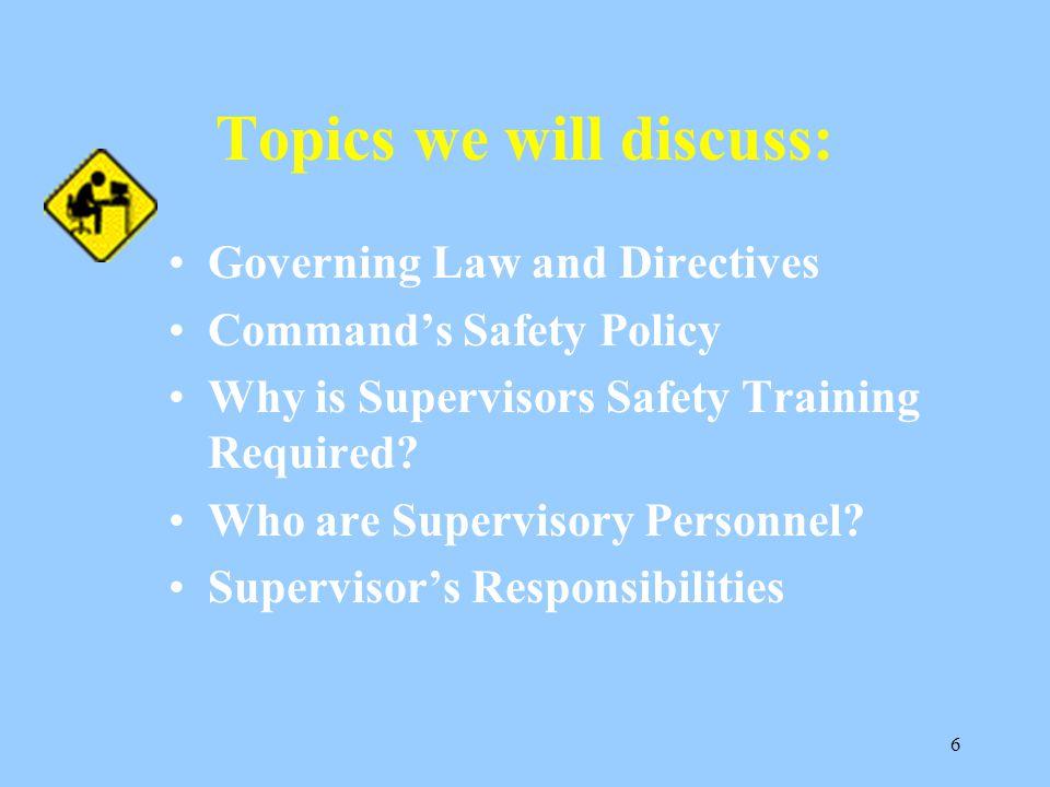 Topics we will discuss: