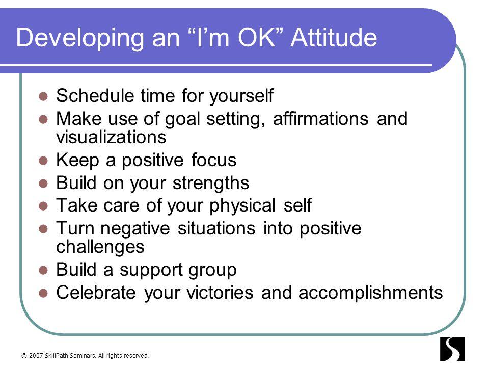 Developing an I'm OK Attitude