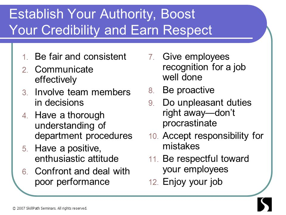 Establish Your Authority, Boost Your Credibility and Earn Respect