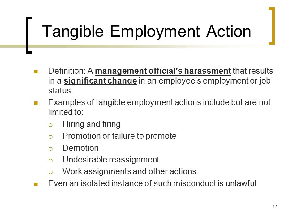 Tangible Employment Action