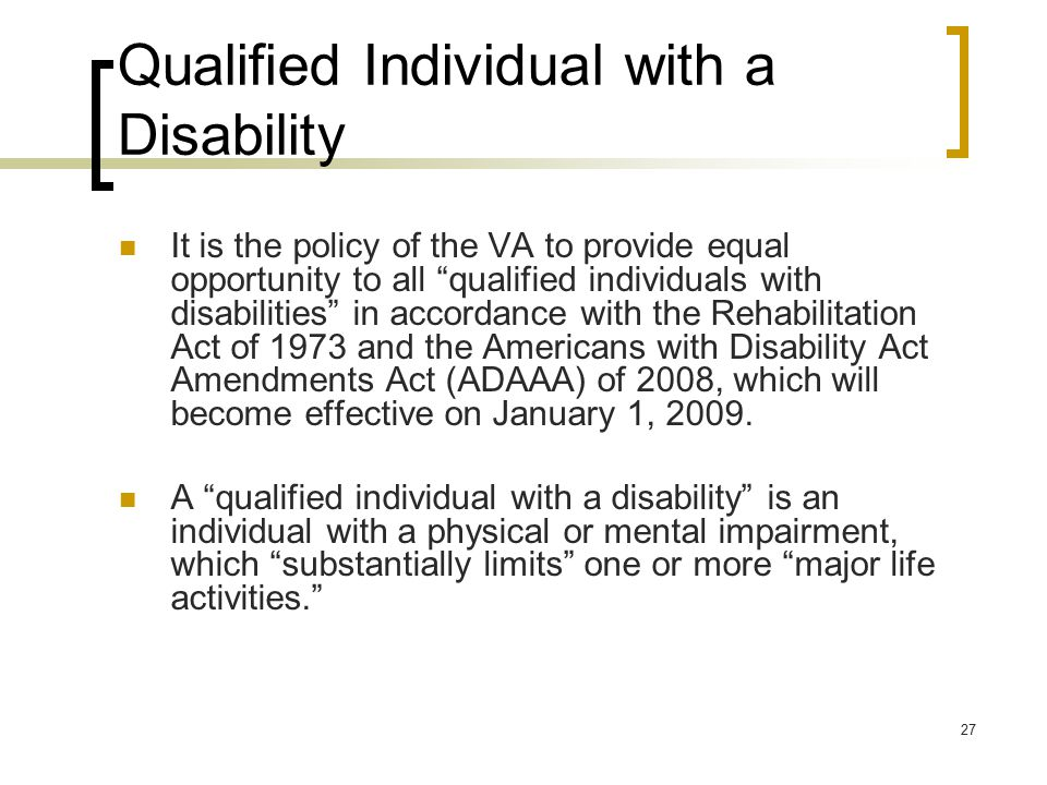 Qualified Individual with a Disability