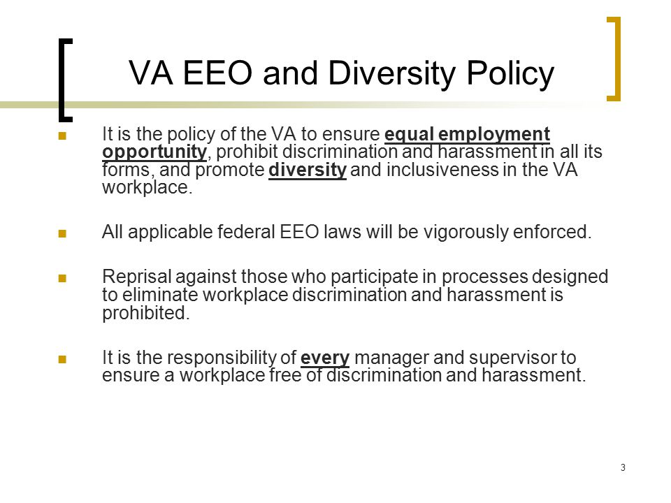 VA EEO and Diversity Policy