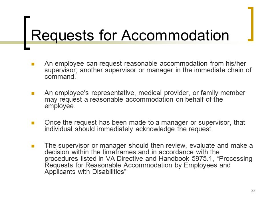 Requests for Accommodation