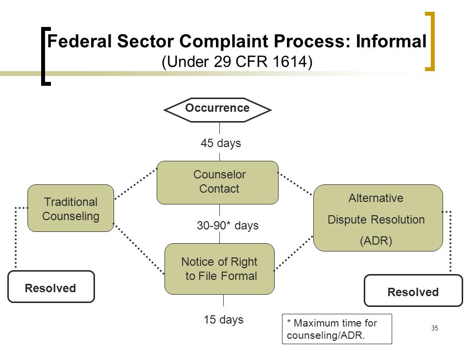Federal Sector Complaint Process: Informal (Under 29 CFR 1614)