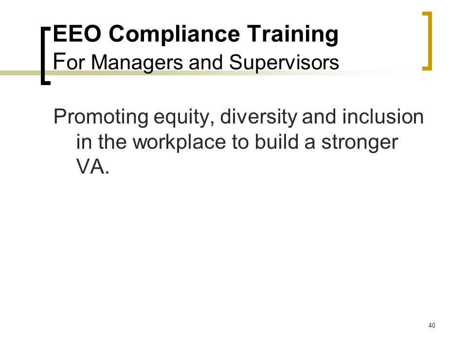 EEO Compliance Training For Managers and Supervisors