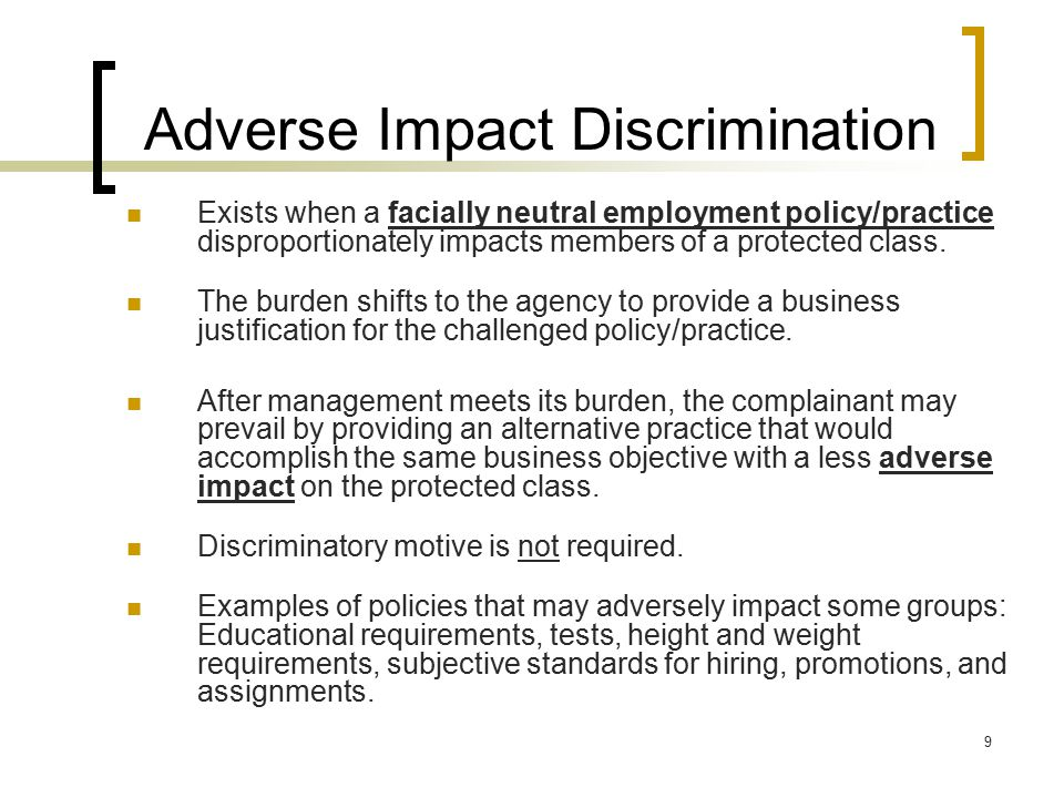 Adverse Impact Discrimination