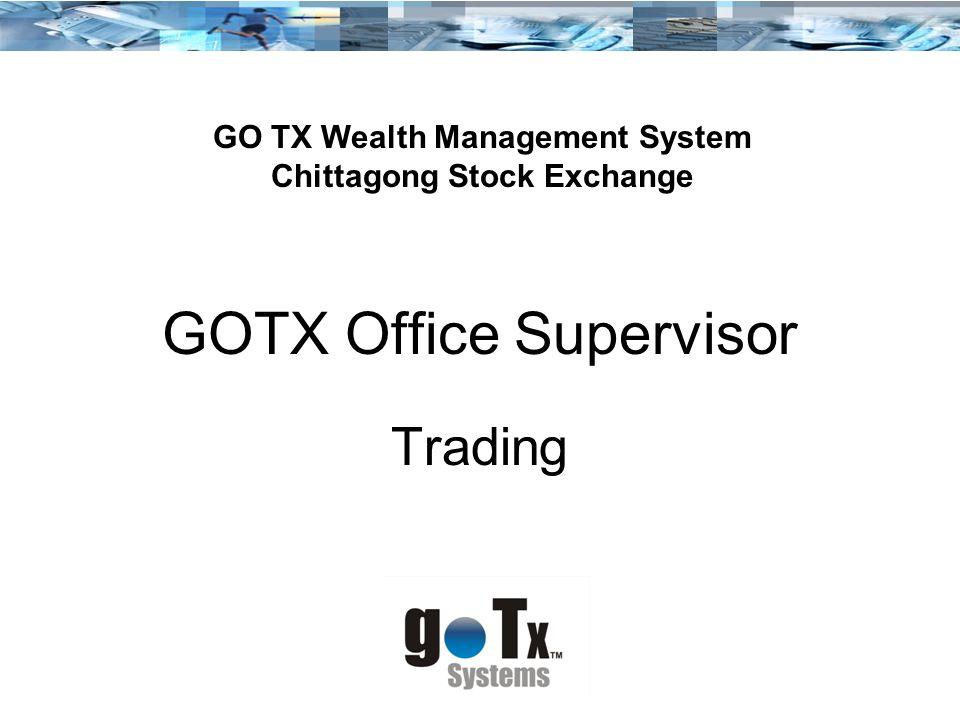 GOTX Office Supervisor