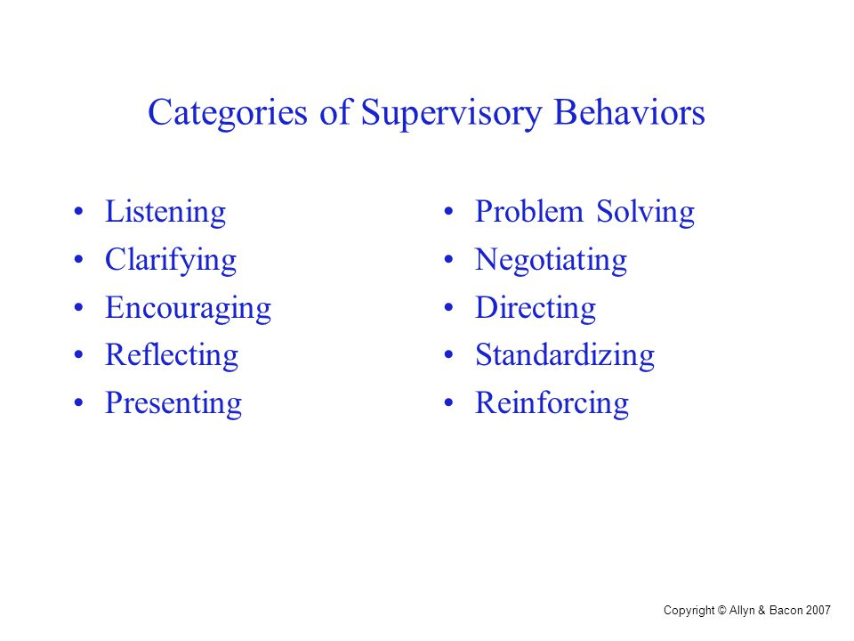 The Supervisory Behavior Continuum