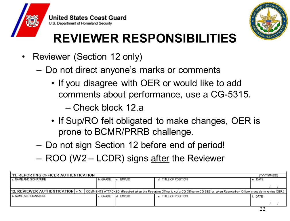 REVIEWER RESPONSIBILITIES