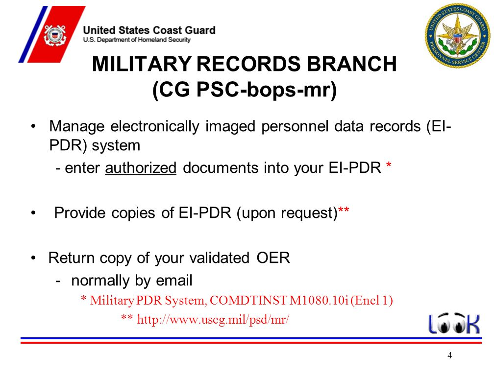 MILITARY RECORDS BRANCH (CG PSC-bops-mr)