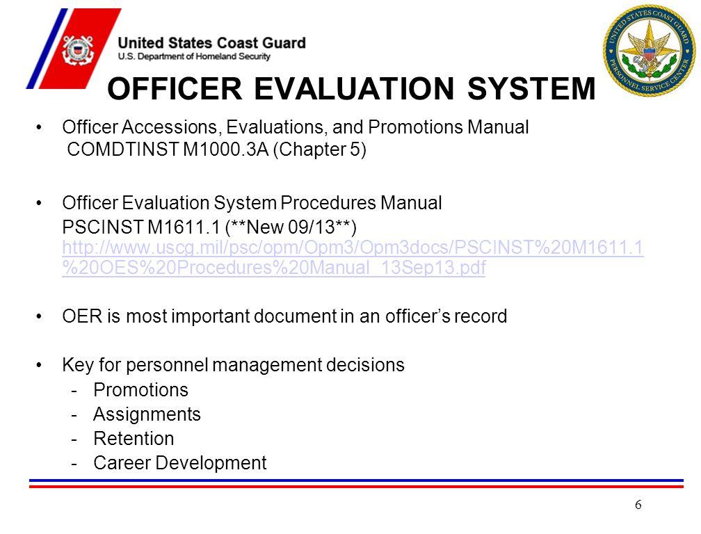 OFFICER EVALUATION SYSTEM