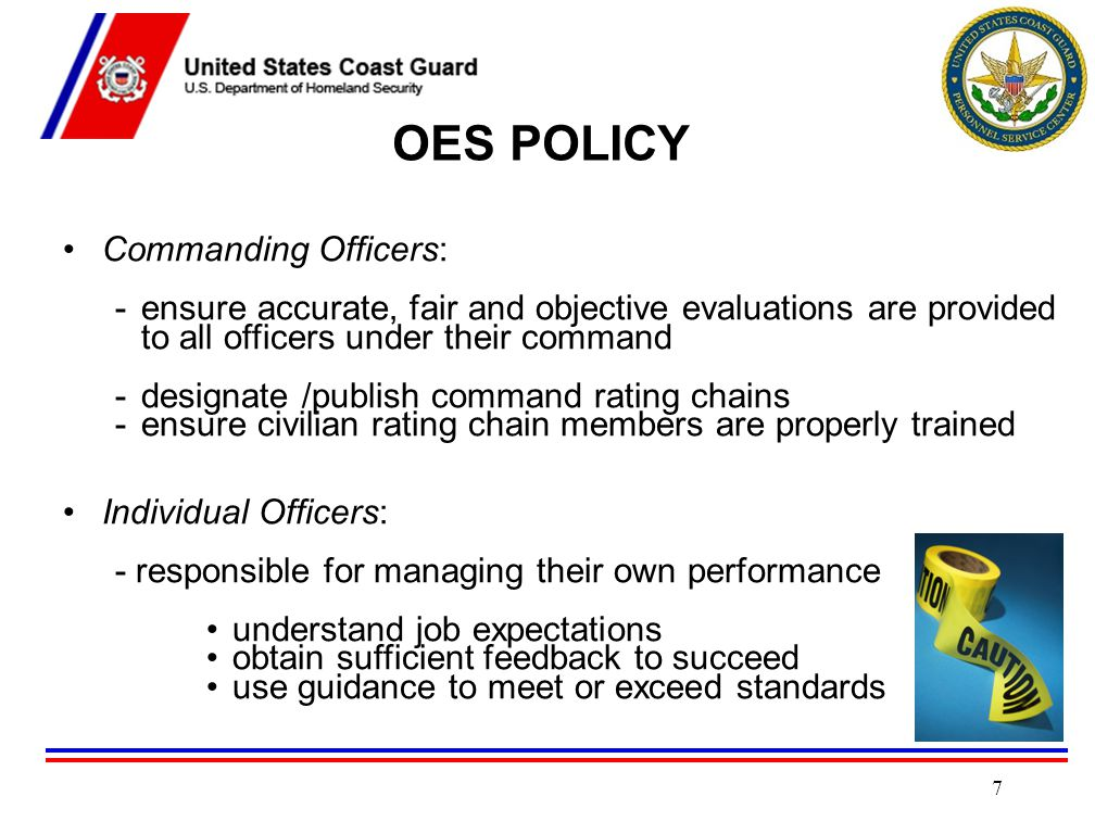 OES POLICY Commanding Officers: