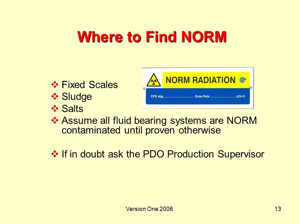 Where to Find NORM Fixed Scales Sludge Salts