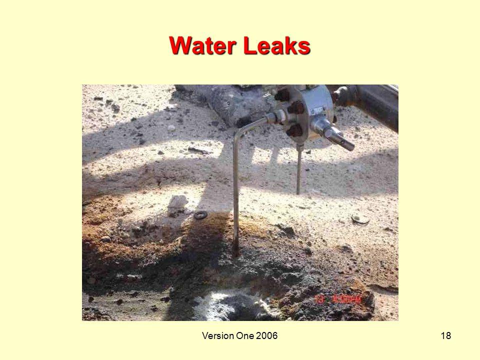Water Leaks Version One 2006