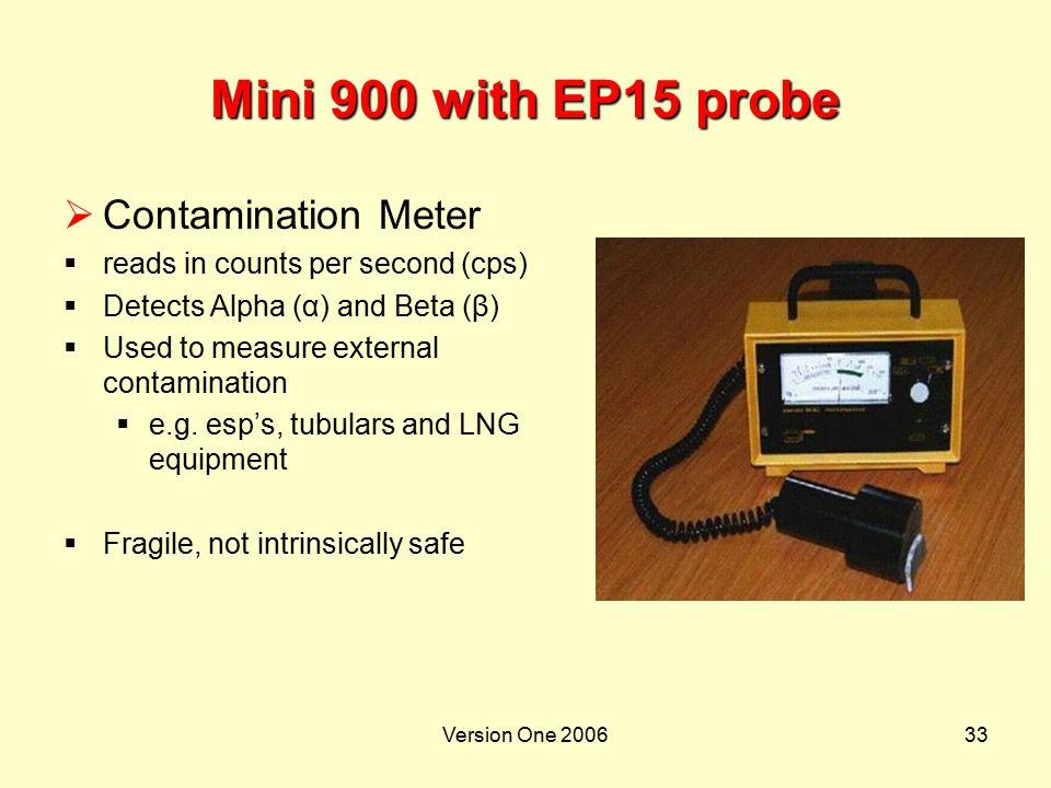 Mini 900 with EP15 probe Contamination Meter